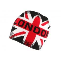 Bonnet London Vintage Rouge Noir et blanc BONNETS Nyls Création