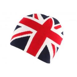 Bonnet Anglais Bleu rouge et blanc