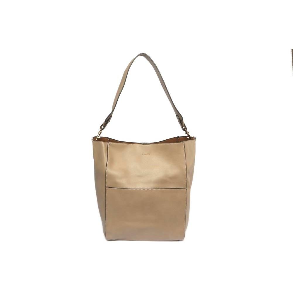 sac cabas beige sac femme port paule cuir avec pochette. Black Bedroom Furniture Sets. Home Design Ideas