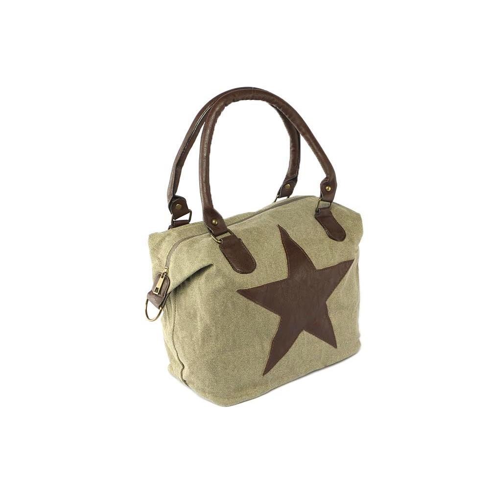 sac bandouli re vert en toile star sac tendance avec toile livr 48h. Black Bedroom Furniture Sets. Home Design Ideas