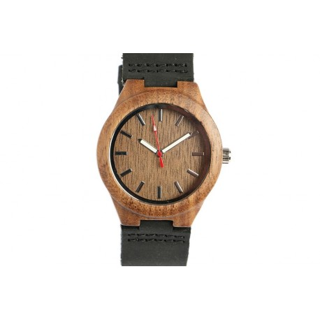 Montre en bois marron foncé Woodie Montre GG Luxe