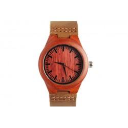 Montre en bois rouge Boscy Montre GG Luxe