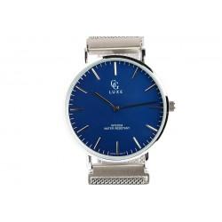Montre Bleu et Argent bracelet aimanté Johnstone Montre GG Luxe