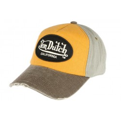 Casquette Von Dutch Vintage Orange Jack CASQUETTES VON DUTCH