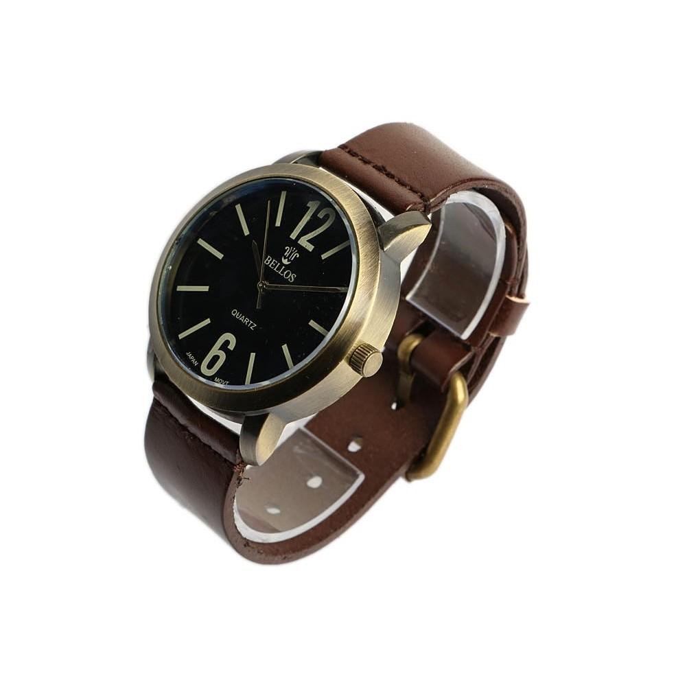 montre bracelet cuir marron playskin montre homme et femme livr 48h. Black Bedroom Furniture Sets. Home Design Ideas