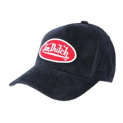 Casquette Von Dutch Marine en Velours Peter