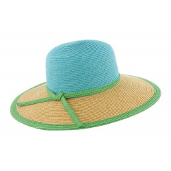 Chapeau paille Bleu Clara Herman headwear