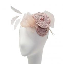 Chapeau Mariage bibi Shasta Rose par Céline Robert