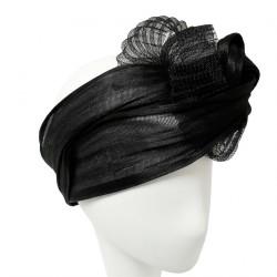 Chapeau Mariage Noir Piatche par Céline Robert