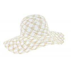 Chapeau femme blanc été Fysea Herman