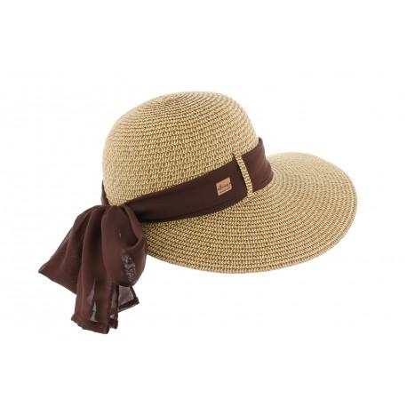 le plus en vogue mode nouvelle version Chapeau paille marron Ylia Herman, casquette femme été livraison 48h!
