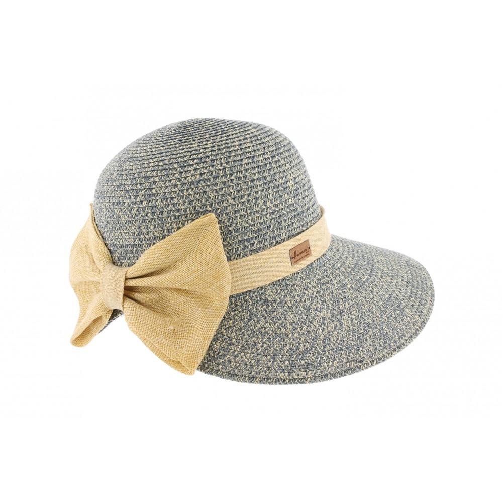chapeau de paille bleu vylla herman casquette femme t livr 48h. Black Bedroom Furniture Sets. Home Design Ideas