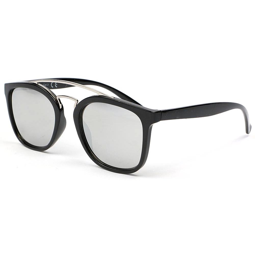 Lunettes de soleil miroir tendance lunette soleil noir for Miroir tendance