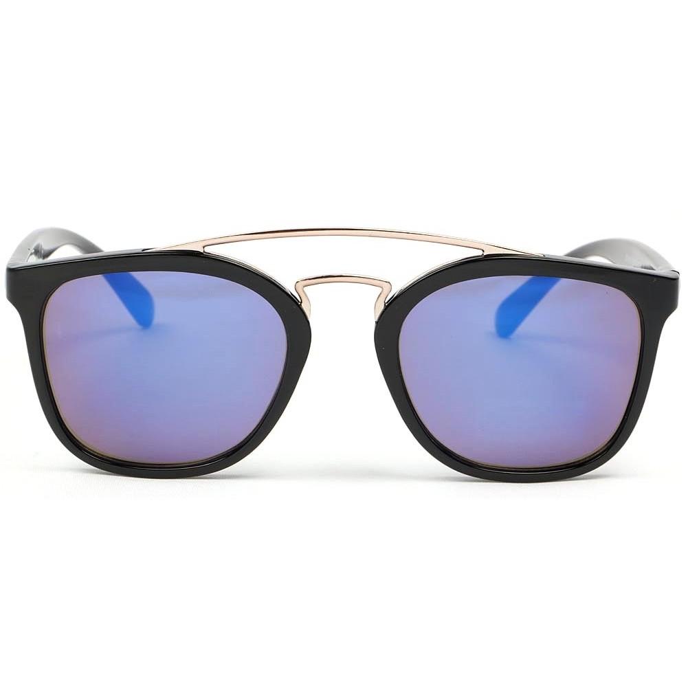 lunettes de soleil noir verres bleu lunette soleil pas cher livr 48h. Black Bedroom Furniture Sets. Home Design Ideas
