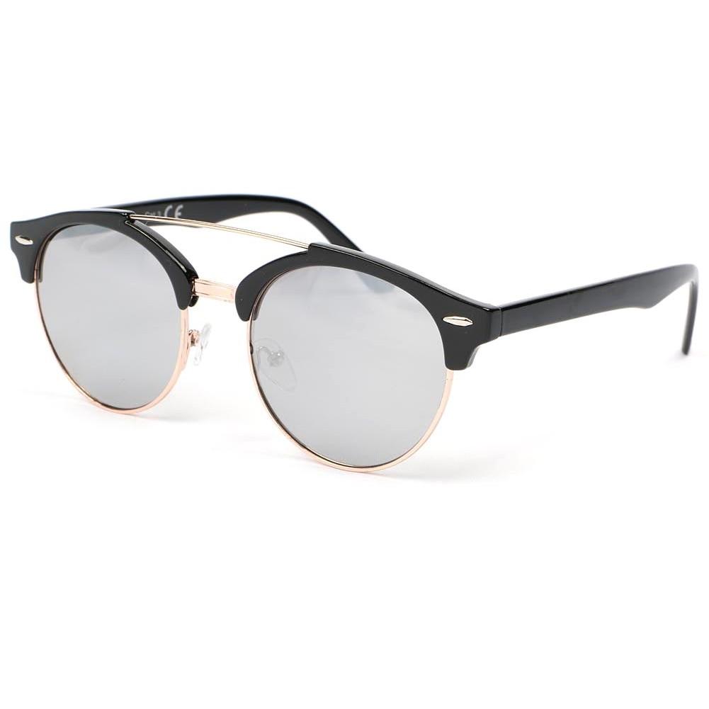 lunettes de soleil retro noir moky lunette soleil miroir. Black Bedroom Furniture Sets. Home Design Ideas