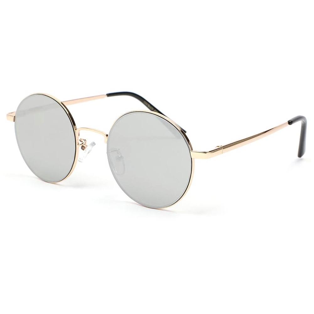 lunette de soleil ronde dor obladi lunette soleil miroir. Black Bedroom Furniture Sets. Home Design Ideas
