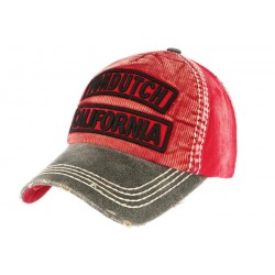 Casquette Von Dutch Rouge velours Niles