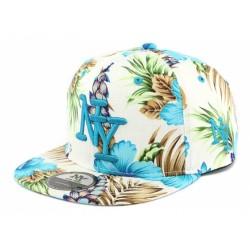 Casquette Ny Bleu Florale Hip Hop Honour