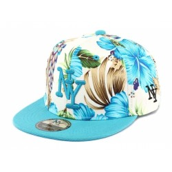 Casquette Ny Bleu Tropical Hip Hop Honour