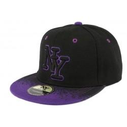 Casquette enfant tag noire et violette de 7 à 11 ans