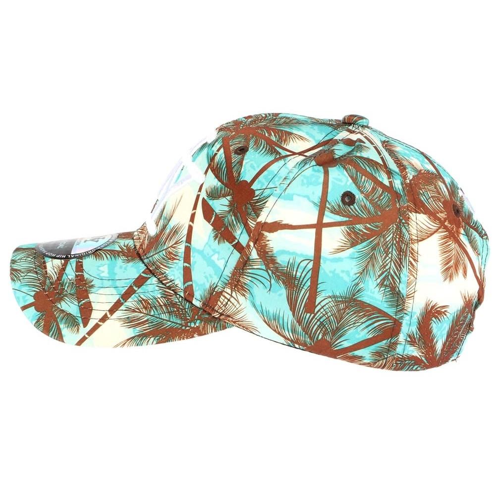 Casquette baseball bleu et marron tropical casquette for Bleu turquoise et marron
