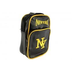 Sacoche NY noir et jaune streetwear