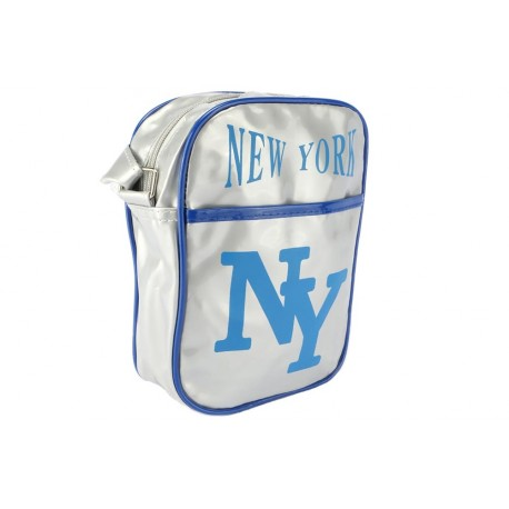 Sacoche NY Grise et Bleue streetwear Sacoches Hip Hop Honour