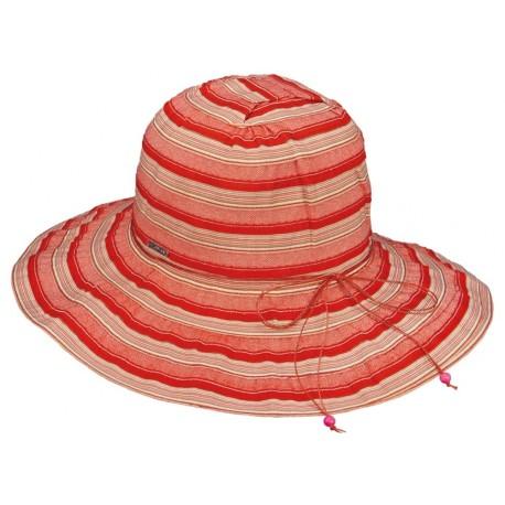 Chapeau été Femme Tissu Rouge Herman Headwear