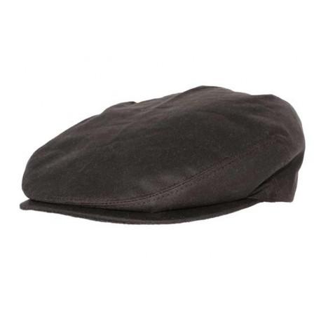 Casquette coton huilé Glend marron