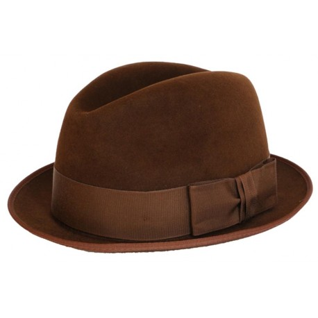 Chapeau feutre Christys' Sportsman narrow marron