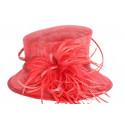Chapeau cérémonie Cersai en sisal rouge