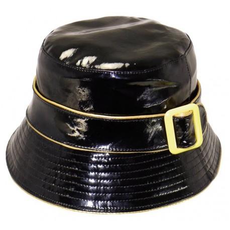 Chapeau de pluie - Bob imperméable Julia noir et doré