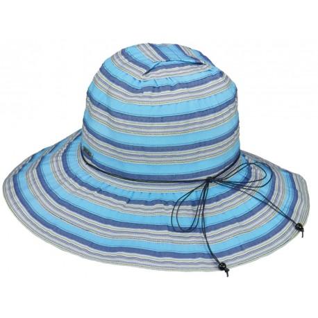 Chapeau été Femme Tissu Bleu Herman Headwear