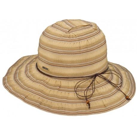 Chapeau été femme Tissu Beige Herman Headwear
