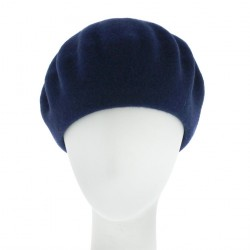 Béret Rond Bleu Koppa Collection Céline Robert