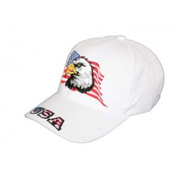 Casquette Aigle drapeau USA Blanche CASQUETTES divers