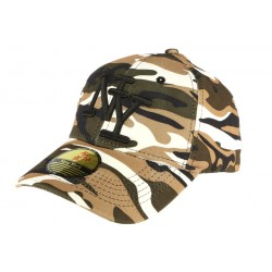 Casquette Baseball Camouflage Sable Essaouira