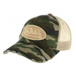 Casquette Trucker Von Dutch Camouflage armee ANCIENNES COLLECTIONS divers