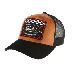 Casquette Filet Von Dutch Cuir Marron GRL ANCIENNES COLLECTIONS divers