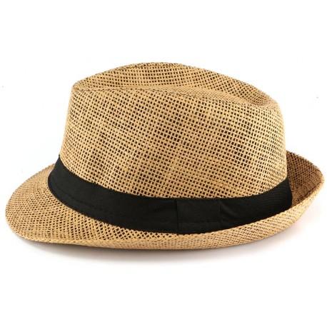 chaussures de séparation 991f9 8776c Chapeau paille enfant marron, chapeau garcon fille style été livré 48h