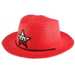 Chapeau enfant rouge Wayne 5 a 10 ans Chapeau Enfant Nyls Création