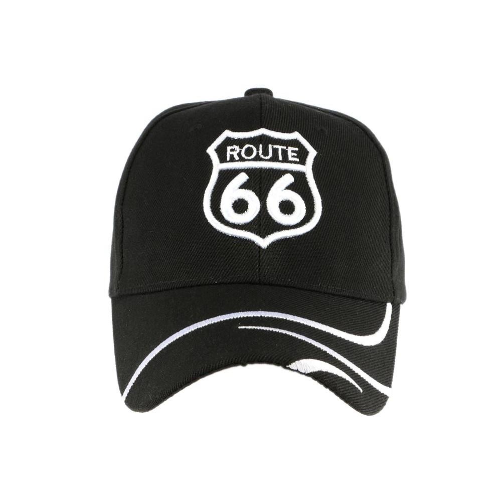 casquette baseball route 66 noire casquette biker livr en 48h. Black Bedroom Furniture Sets. Home Design Ideas