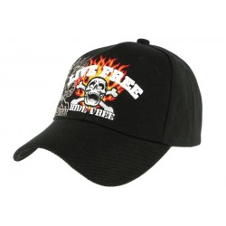 Casquette baseball noire Live Free Ride Free CASQUETTES Nyls Création