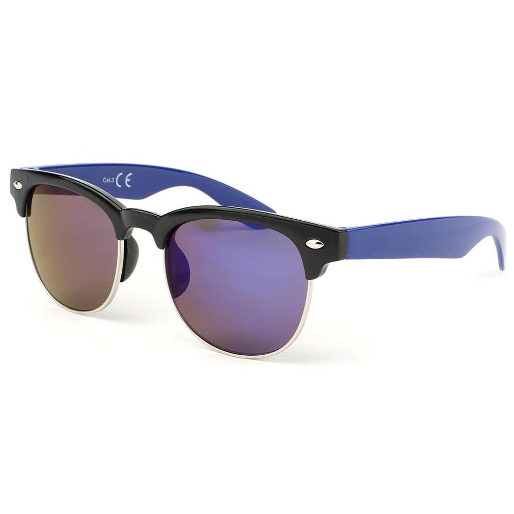Lunette soleil enfant bleu miroir lunette gar on et fille for Lunette soleil verre bleu miroir