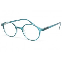Lunette loupe ronde bleu transparent Flex Lunettes Loupes New Time
