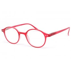 Lunette loupe ronde Rouge transparent Flex