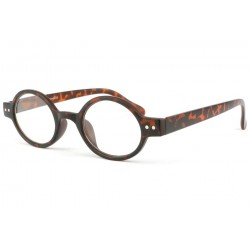Lunette de lecture retro marron ecaille Dok Lunettes Loupes New Time