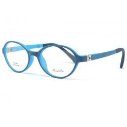 Monture lunette enfant ronde bleue Mylo 5 a 7 ans