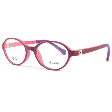 Monture lunette enfant ronde rose Myla 5 a 7 ans