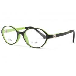 Monture lunette enfant ronde verte Mylo 5 a 7 ans